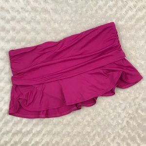 Lands' End 14 Swim Skirt Bottoms Ruffle Ruched